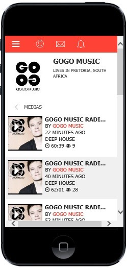 The free GOGO music mobile phone app