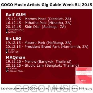 GOGO Music GIG Guide Week 51