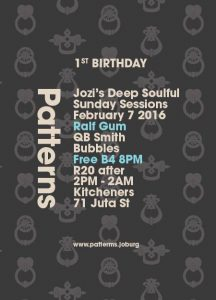 Patterns hosted at Kitcheners Bar