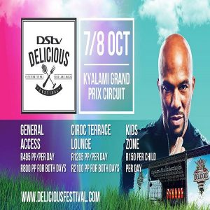 DSTV Delicious 2017 Ticket Info