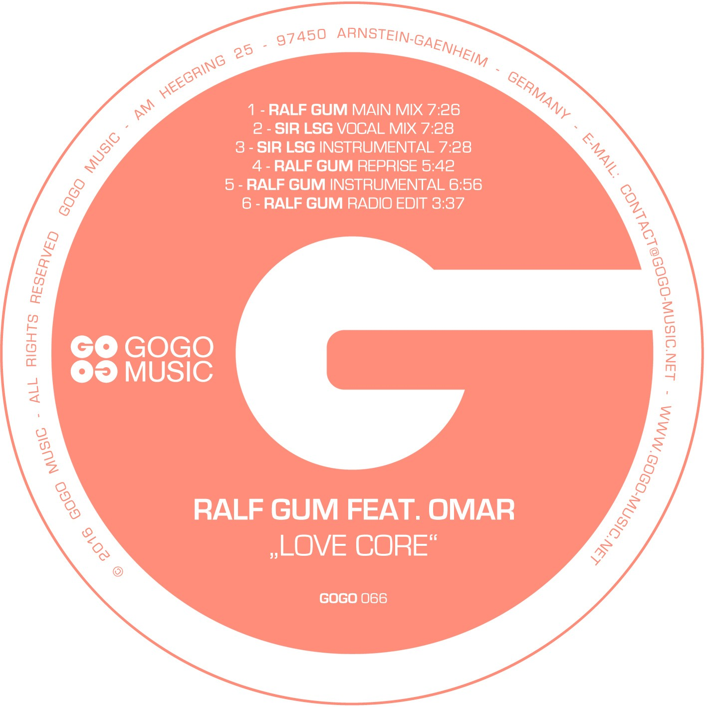 Ralf GUM feat Omar – Love Core (Sir LSG Vocal Mix)