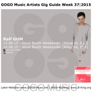 GOGO Music Gig Guide Week 37 of 2015