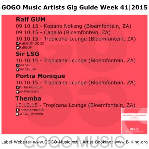 GOGO Music GIG Guide Week 41