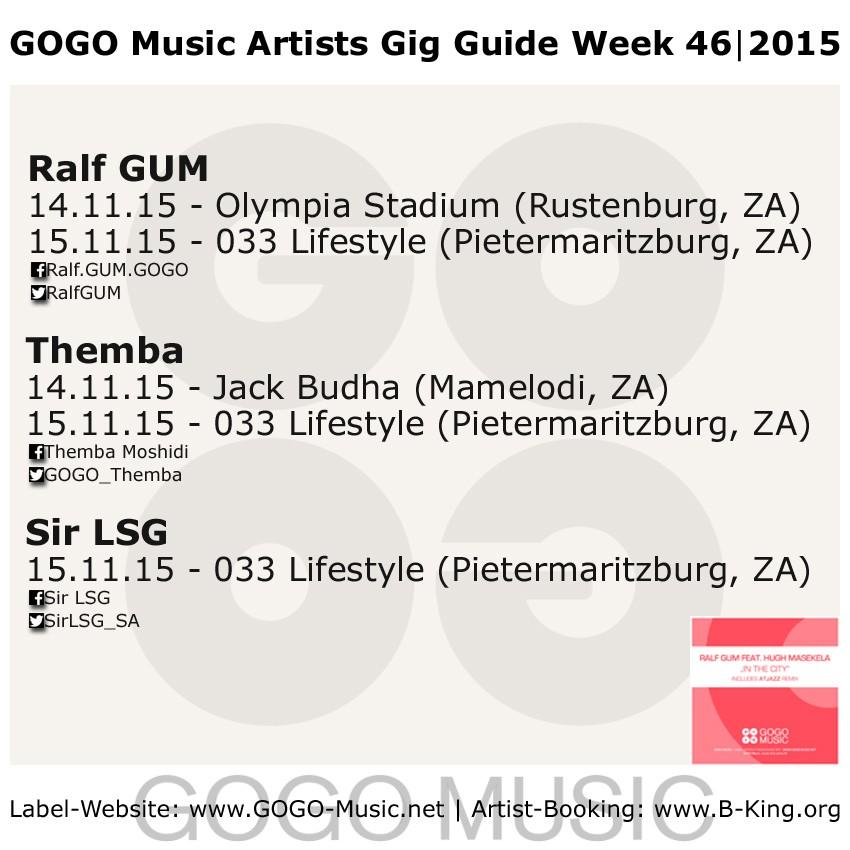 GOGO Music GIG Guide week 46