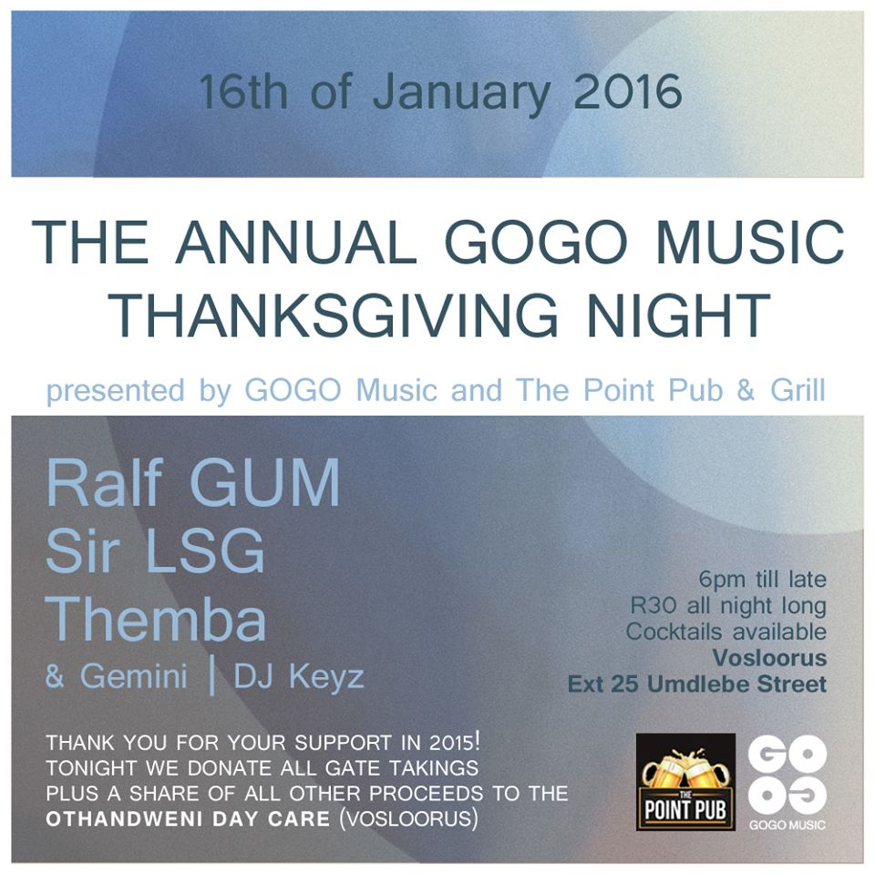 The Annual GOGO Music Thanksgiving Night