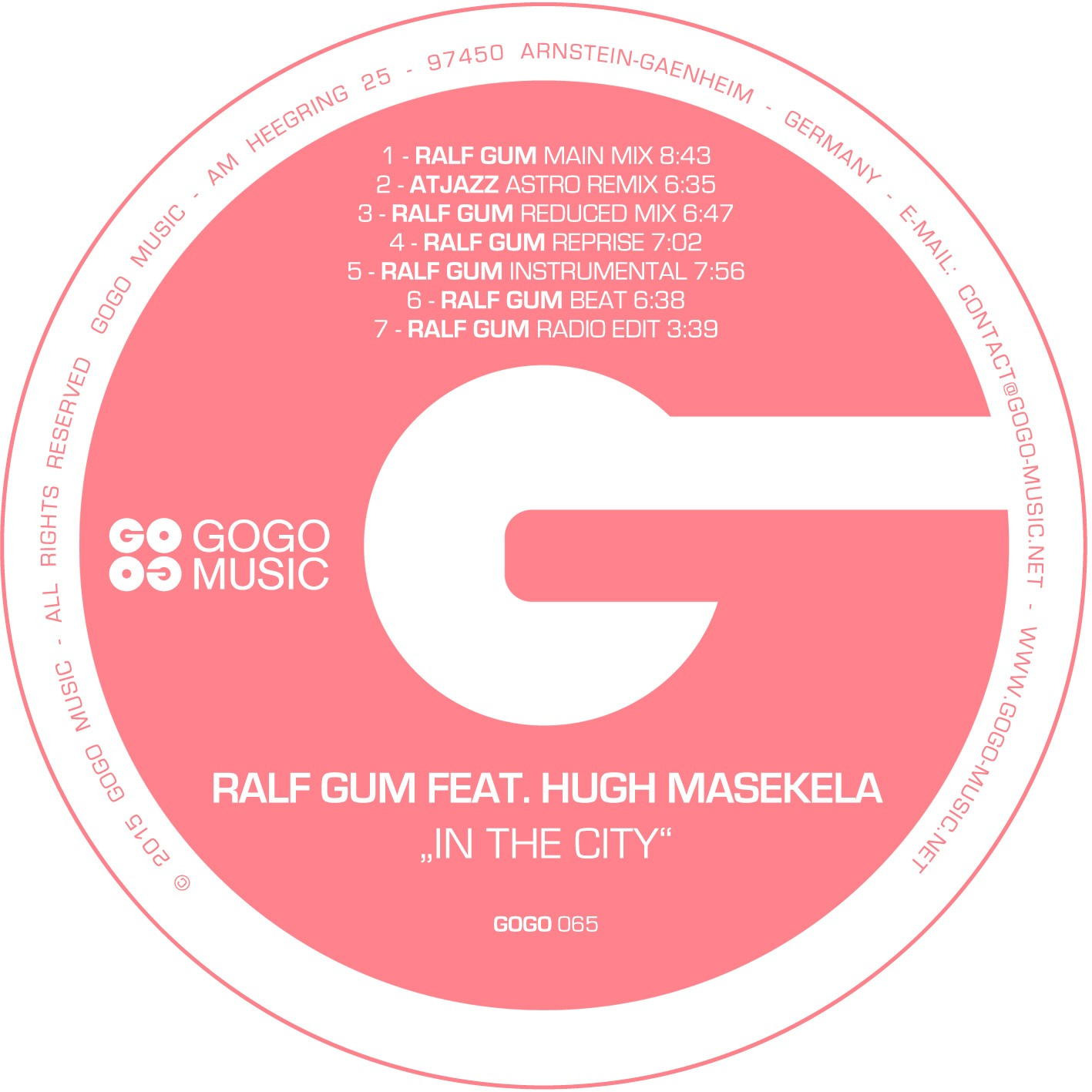 Ralf Gum feat Hugh Masekela- In The City (Atjazz Astro Remix)