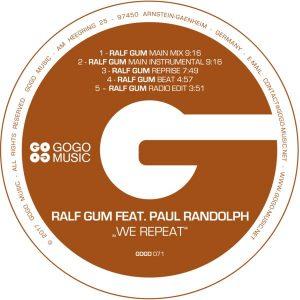 Ralf Gum feat Paul Randolph- We Repeat (Ralf Gum Main Mix)