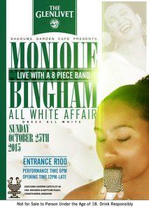 Monique Bingham All White Affair at Shaguma Garden Cafe