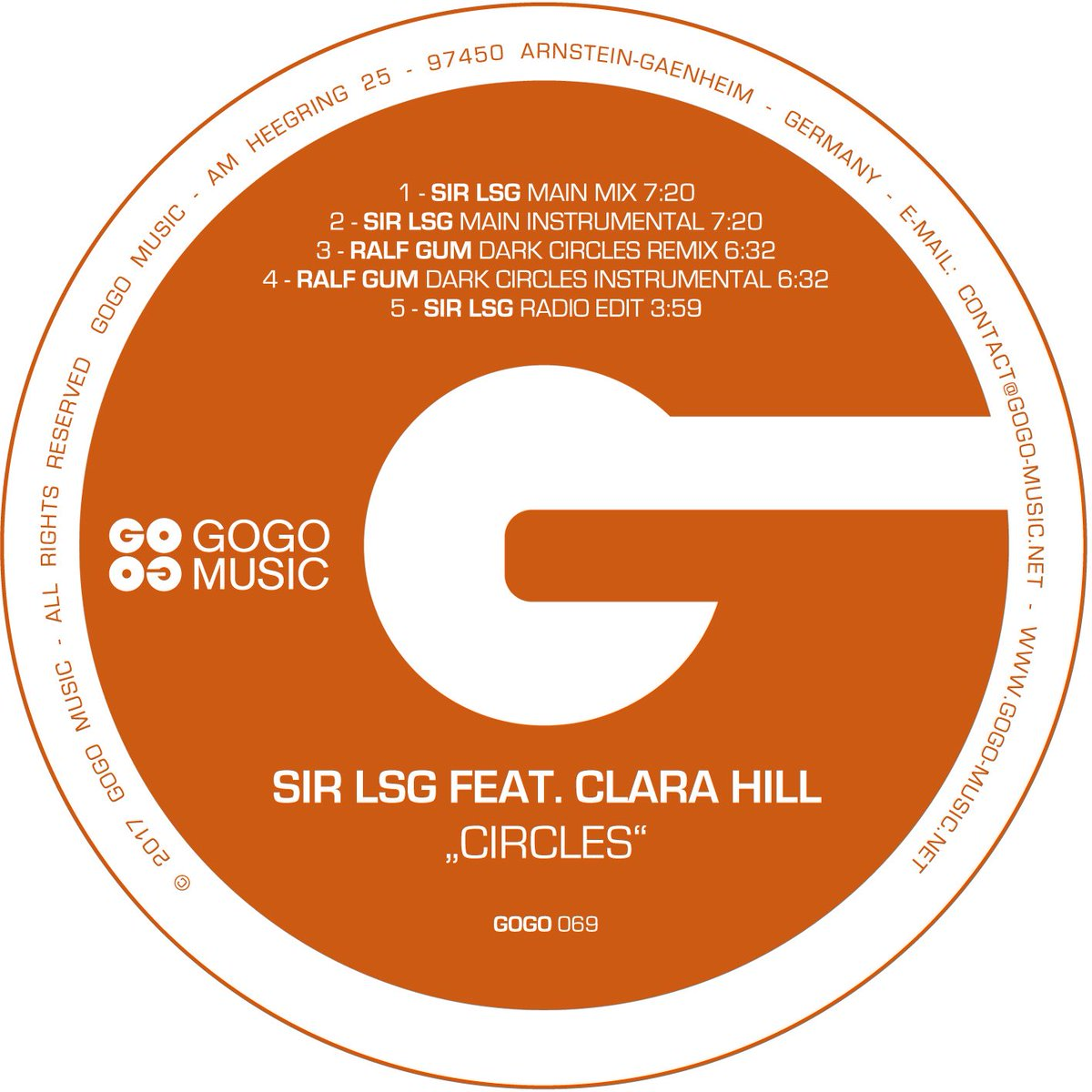 Sir LSG feat Clara Hill – Circles (Ralf GUM Dark Circles Remix)
