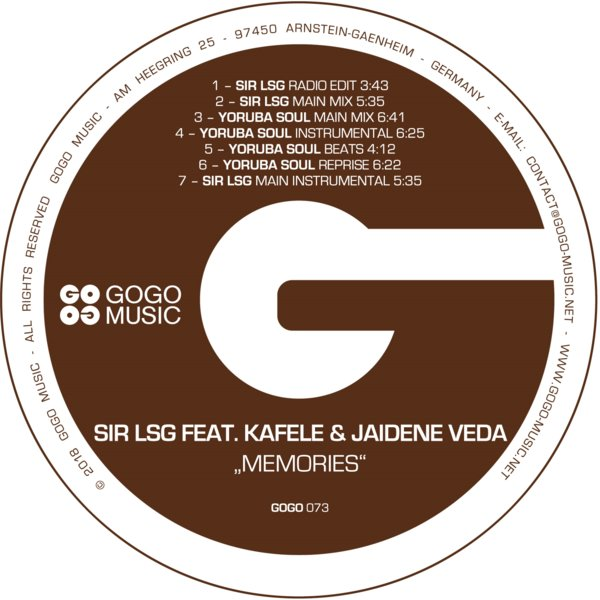 Sir LSG feat Kafele & Jaidene Veda- Memories (Yoruba Soul Main Mix)