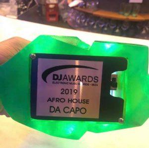 Da Capo Scoops Kryptonite at DJ Awards 2019