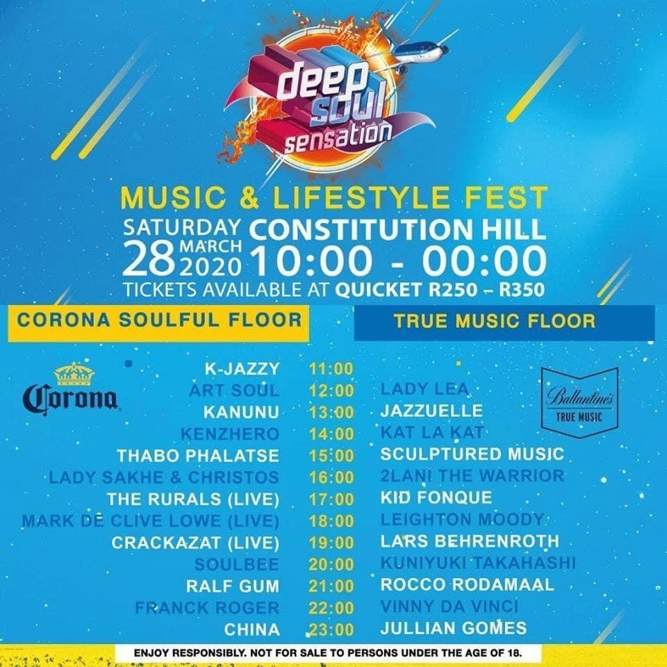 Deep Soul Sensation Music and Lifestyle Festival Postponed